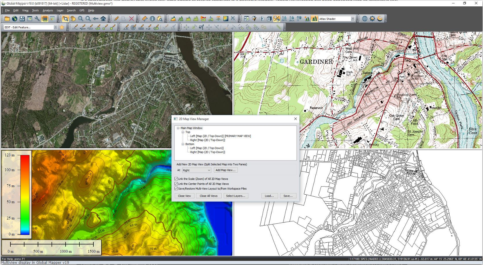 Global Mapper GIS softver