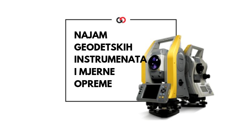 najam geodetskih instrumenata i mjerne opreme